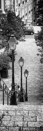 Paris Focus - Stairs of Montmartre Photographic Print by Philippe Hugonnard