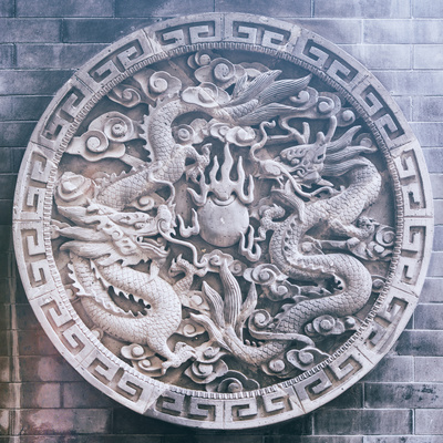 China 10MKm2 Collection - Chinese ancient Sculpture Dragons Photographic Print by Philippe Hugonnard