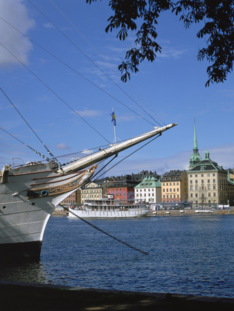 Af Chapman Sailing Ship (Youth Hostel), Stockholm, Sweden Photographic Print by Peter Thompson