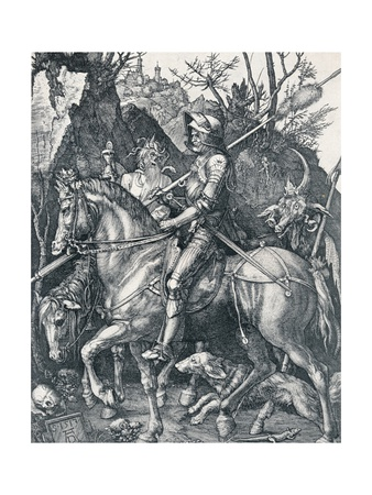 The Knight, Death and the Devil, 1513 Giclee Print by Albrecht Dürer