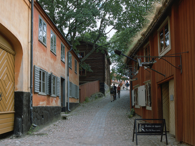 Town Quarter, Skansen, Stockholm, Sweden Photographic Print by Peter Thompson