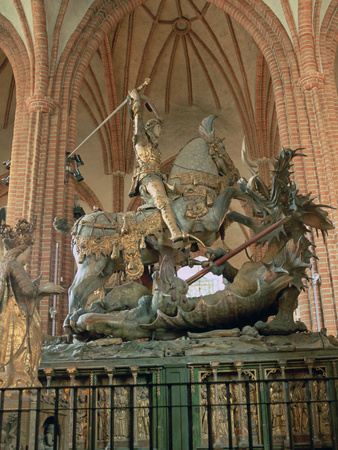 St George and the Dragon Statue, Inside the Storkyrkan Church, Stockholm, Sweden Photographic Print by Peter Thompson