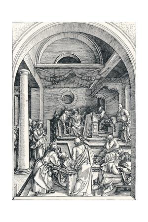 Christ Among the Doctors, 1506 Giclee Print by Albrecht Dürer