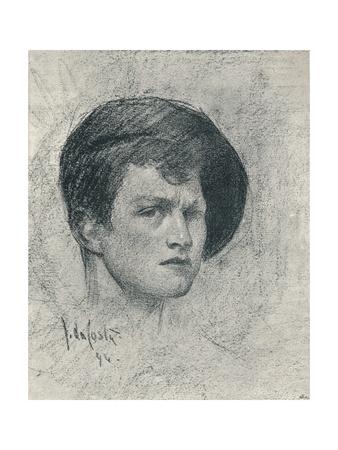 A Self-Poratrait of John Da Costa, C1895 Giclee Print by John da Costa