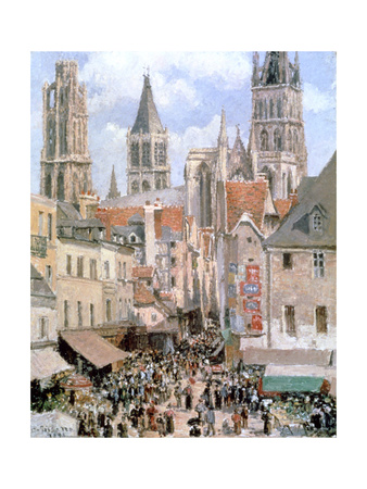 Levine and Walk Rouen,1898 Giclee Print by Camille Pissarro