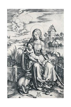Virgin and Child with a Monkey, 1506 Giclee Print by Albrecht Dürer