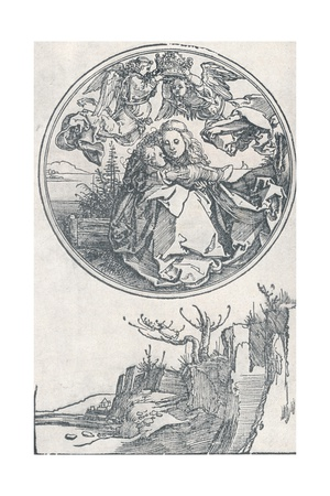 The Virgin Crowned by Two Angels, C1515 Giclee Print by Albrecht Dürer