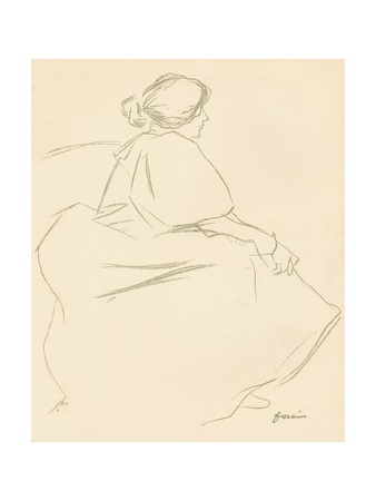 A Study in Crayon, C1872-1898, (1898) Giclee Print by Jean Louis Forain