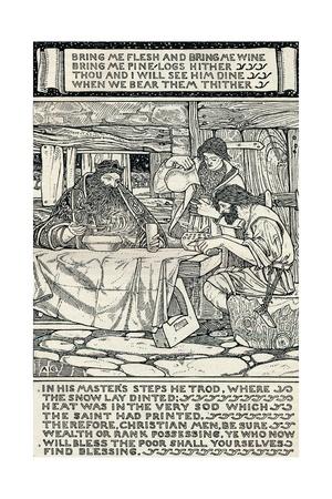 Good King Wenceslas, 1895 Giclee Print by Arthur Joseph Gaskin