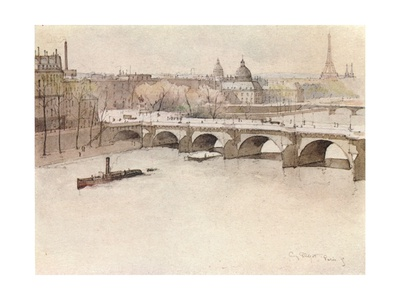 The Pont Neuf, 1915 Giclee Print by Eugene Bejot