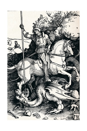St George and the Dragon, 1505 Giclee Print by Albrecht Dürer