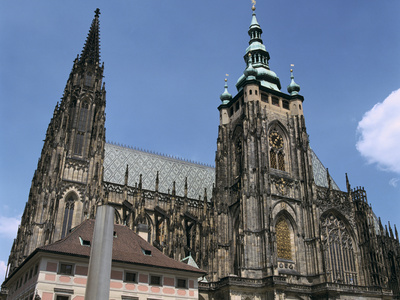 St Vitus Cathedral, Prague, Czech Republic Photographic Print by Peter Thompson