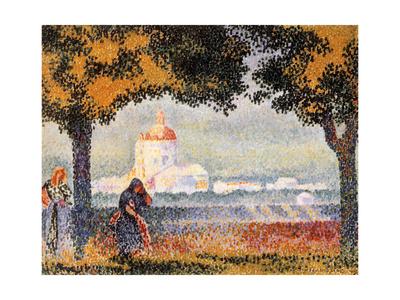 The Church of Santa Maria Degli Angely Near Assisi, 1909 Giclee Print by Henri Edmond Cross