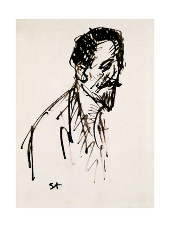 Portrait of Jehan Rictus, 20th Century Giclee Print by Theophile Alexandre Steinlen