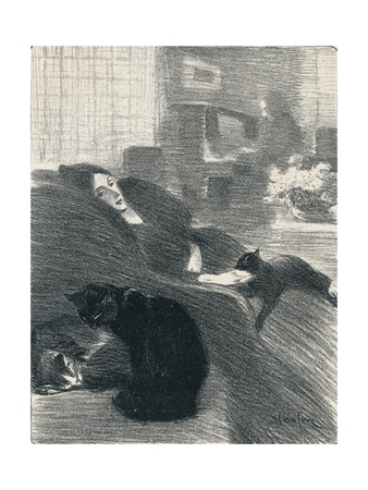 Quand Nous Serons Vieux from Chansons De Femmes, 1897, (1898) Giclee Print by Theophile Alexandre Steinlen