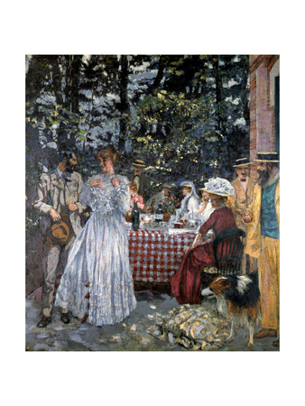 Lunch at Vasouy, 1901 Giclee Print by Edouard Vuillard