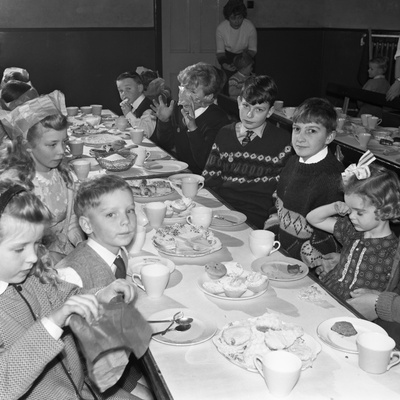Childrens Christmas Party at a Methodist School, South Yorkshire, 1964 Photographic Print by Michael Walters