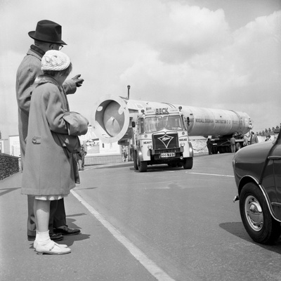 An Absorption Tower Being Transported by Road, Dukenfield, Manchester, 1962 Photographic Print by Michael Walters