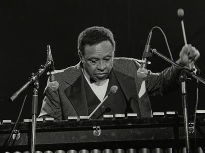 Lionel Hampton on the Vibraphone, Knebworth, Hertfordshire, July 1982 Photographic Print by Denis Williams