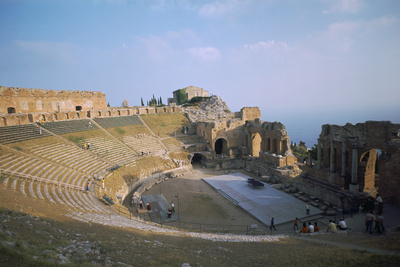 A Greco-Roman Theatre at Taormina in Sicily, 2nd Century Photographic Print by CM Dixon