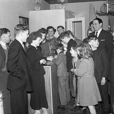Tv and Recording Star Wee Willie Harris Visits South Yorkshire, 1958 Photographic Print by Michael Walters