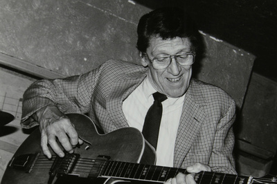 American Guitarist Tal Farlow Performing at the Bell Inn, Codicote, Hertfordshire, 1986 Photographic Print by Denis Williams