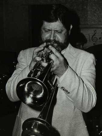 Trumpeter Bobby Shew Performing at the Bell, Codicote, Hertfordshire, 19 May 1985 Photographic Print by Denis Williams