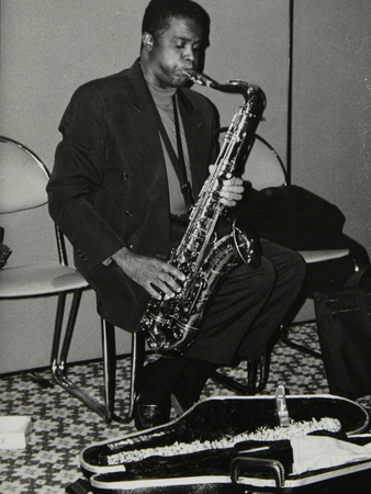 American Tenor Saxophonist Rickey Woodard at the Fairway, Welwyn Garden City, Hertfordshire, 1996 Photographic Print by Denis Williams