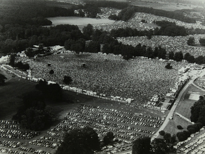 Aerial View of Crowds at the Knebworth Pop Festival, 1986 Photographic Print by Denis Williams