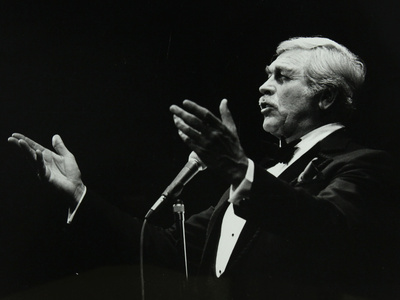 Howard Keel in Full Song at the Forum Theatre, Hatfield, Hertfordshire, 14 May 1983 Photographic Print by Denis Williams