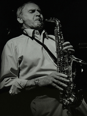 Saxophonist Bruce Turner Playing at the Stables, Wavendon, Buckinghamshire Photographic Print by Denis Williams