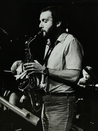 Saxophonist Phil Todd Playing at the Stables, Wavendon, Buckinghamshire Photographic Print by Denis Williams