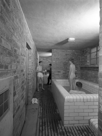 Sheffield United Fc Training Ground Bathroom, Sheffield, South Yorkshire, 1961 Photographic Print by Michael Walters