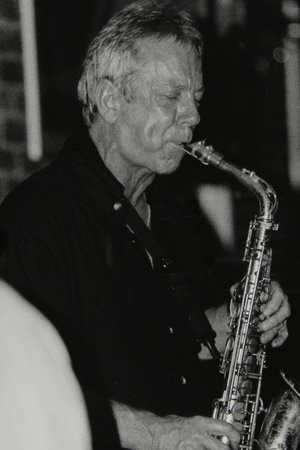Pat Crumly Playing Alto Saxophone at the Fairway, Welwyn Garden City, Hertfordshire, 10 May 1998 Photographic Print by Denis Williams
