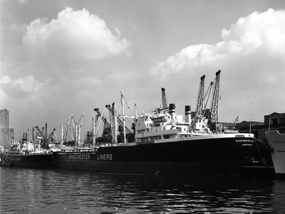 The Manchester Renown in Dock on the Manchester Ship Canal, 1964 Photographic Print by Michael Walters