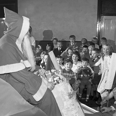 Santa Claus at a Methodist Church in Swinton, South Yorkshire, 1964 Photographic Print by Michael Walters
