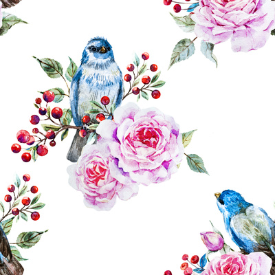 Raster Bird Pattern Posters by  Zenina