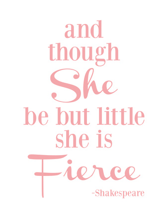She Is Fierce V2 Pink Art by Amy Brinkman