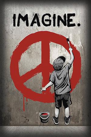 Imagine Peace Graffiti plakat