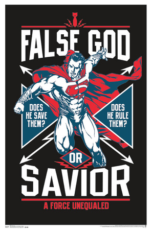 Superman: False God or Savior? Batman vs Superman blacklight poster wall art