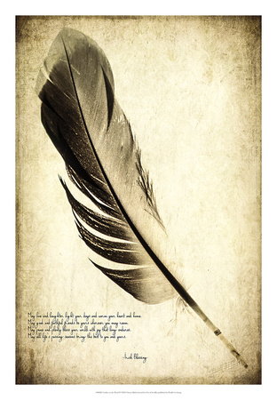 Feather on the Wind IV Giclee Print by Honey Malek