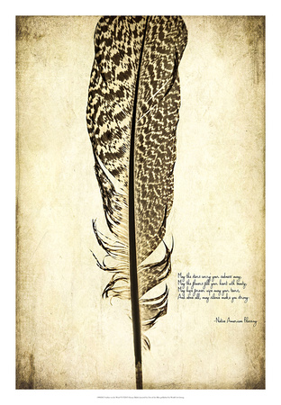 Feather on the Wind VI Giclee Print by Honey Malek