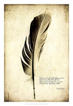 Feather on the Wind III Giclee Print by Honey Malek