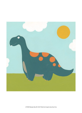 Playtime Dino III Prints by June Vess