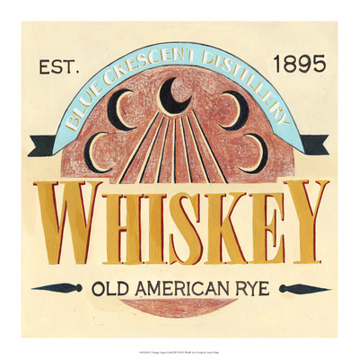 Vintage Liquor Label III Print by Grace Popp