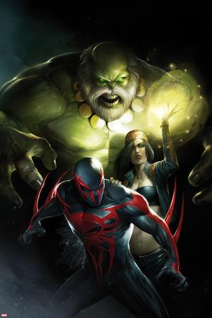 Spider-Man 2099 No. 10 Cover, Featuring: Maestro, Strange, Spider-Man 2099 Plastic Sign by Francesco Mattina