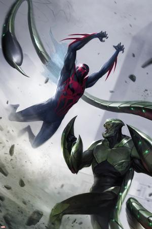 Spider-Man 2099 No. 4 Cover, Featuring: Spider-Man 2099, Scorpion Plastic Sign by Francesco Mattina