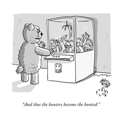 """""""And thus the hunters become the hunted."""" - New Yorker Cartoon Giclee Print by Farley Katz"""