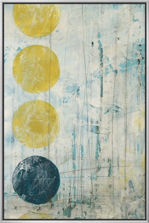 Phase Shift I Framed Canvas Print by Erica J. Vess