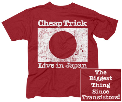 Cheap Trick- Live In Japan (Front/Back) T-Shirt